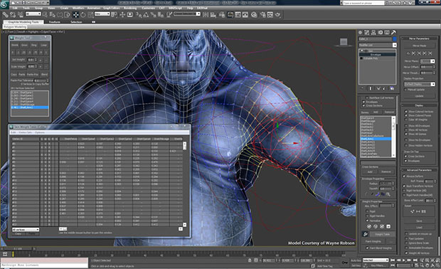 3ds Max 2019 animation and rigging