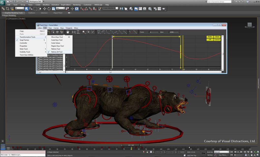 3ds Max 2019 skinning and rigging character animation