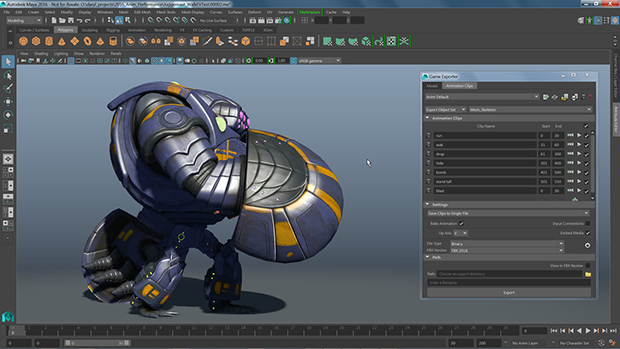 Autodesk maya 2016 essential animation software for Autodesk maya templates